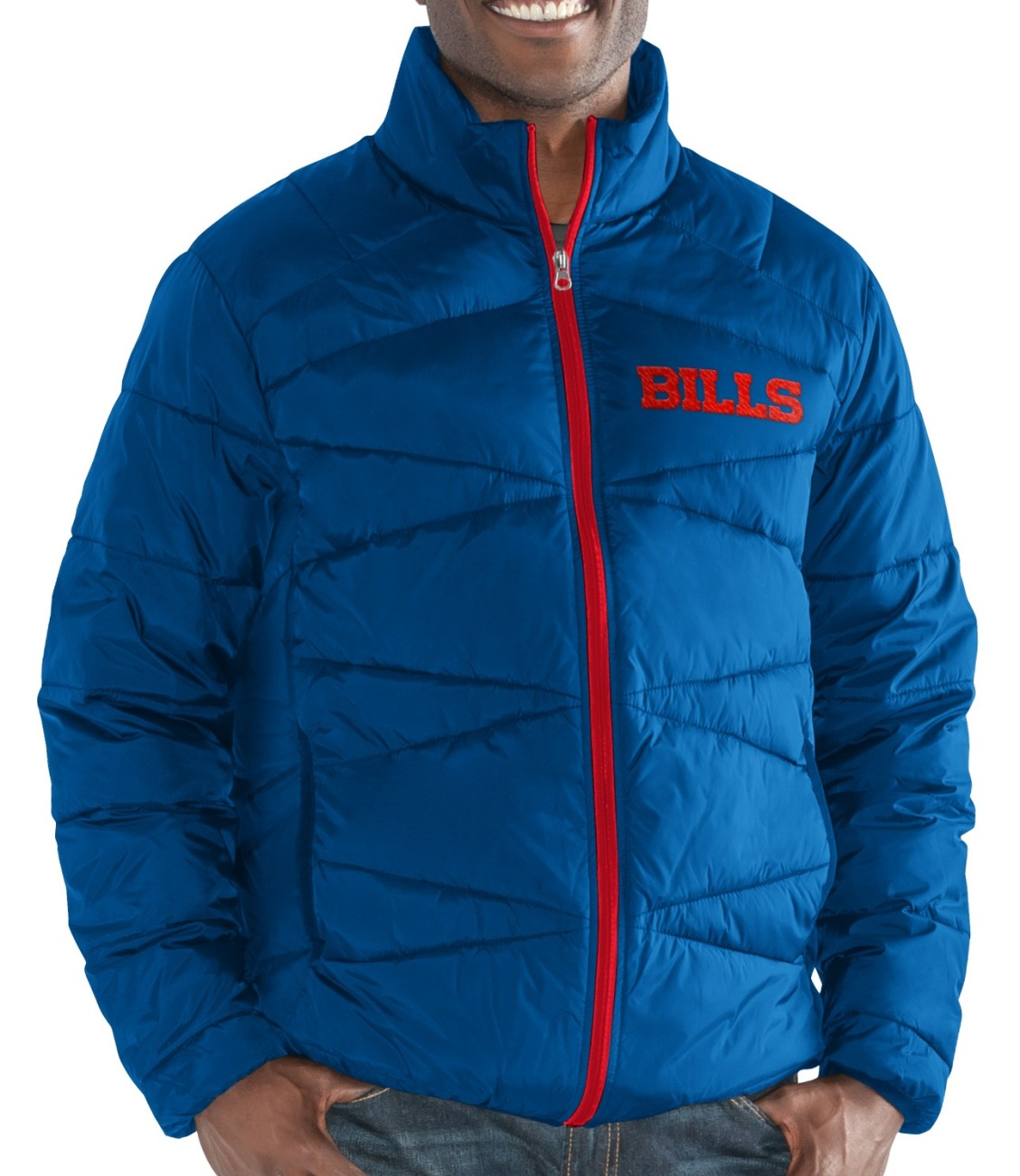 """Buffalo Bills Men's NFL G-III """"Blitz"""" F Zip Packable Quilted Jacket with Bag by G-III Sports"""