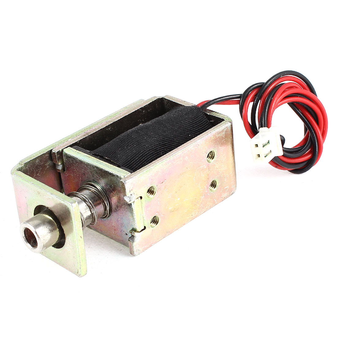 DC 12V 0.6A 6mm 200gf Pull Type Open Frame Linear Solenoid Electromagnet - image 2 of 2