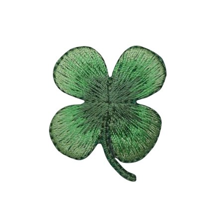 Small - 4 Leaf Clover - Shamrock - Iron on Applique/Embroidered Patch - Halloween Four Leaf Clover
