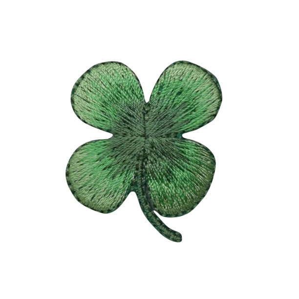 Small 4 Leaf Clover Shamrock Iron On Applique Embroidered