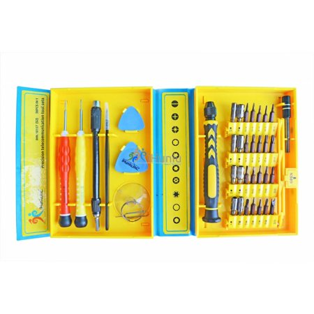 Precision Screwdriver Set, 30 in 1 Magnetic and Tweezers Pry Tool kit with 30 Bits, Professional Electronics Repair Tool Kit for iPhone/ Cell Phone/ iPad/ Tablet/ PC/ MacBook and Other - Professional Mobile
