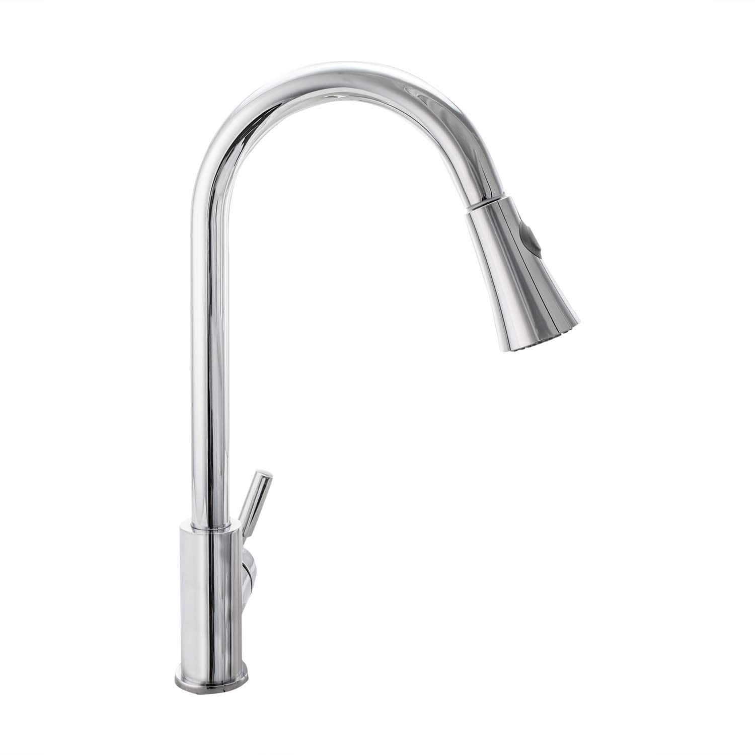 Cosmo  COS-KF501C Chrome Stainless Steel Centerset Pull-down Kitchen Faucet