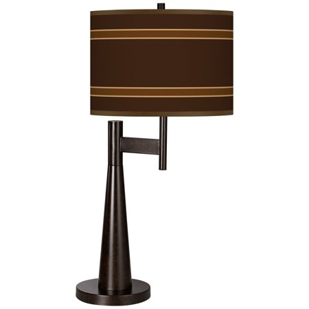 Saratoga 5 Light - Giclee Glow Saratoga Stripe Giclee Novo Table Lamp