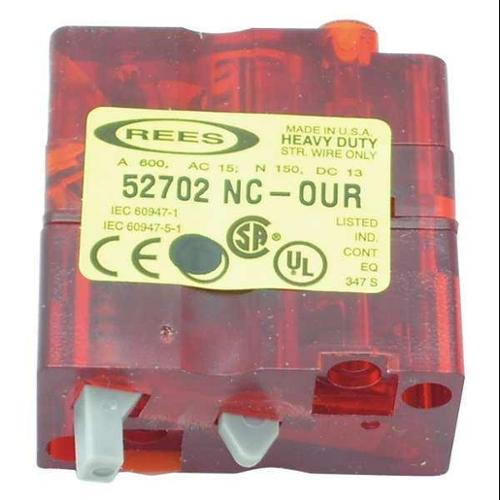 REES 52702-000 Contact Block,1NC,Rees Switches G9999315