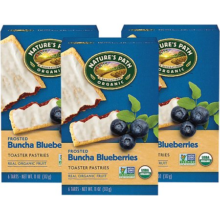 (3 Pack) NatureâÂÂs Path Frosted Buncha Blueberries⢠Toaster Pastries, 6 Tarts