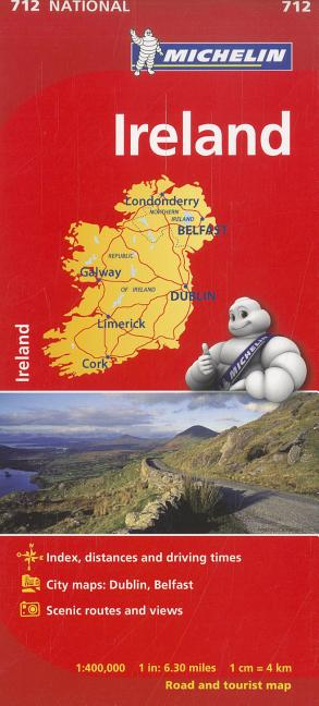 Michelin National Map 712 Ireland