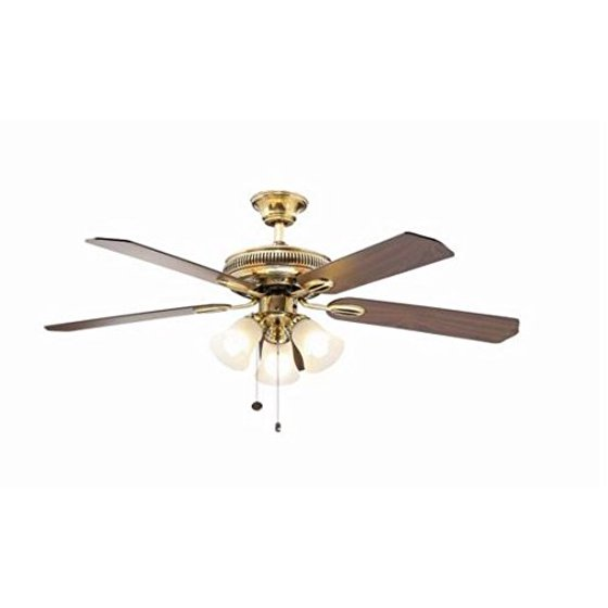 Hampton Bay Glendale 52 In. Flemish Brass And Gold Ceiling