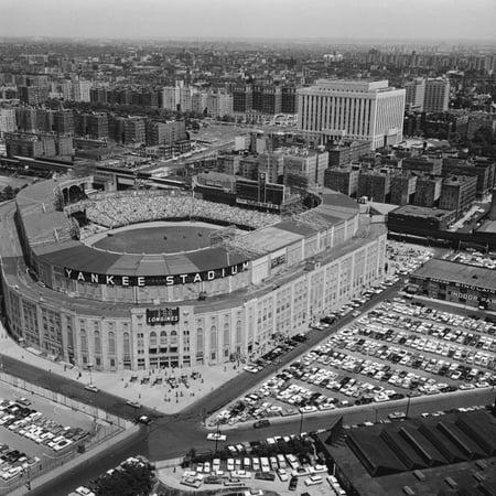 Aerial View of Yankee Stadium Print Wall Art (Aerial View Yankee Stadium)