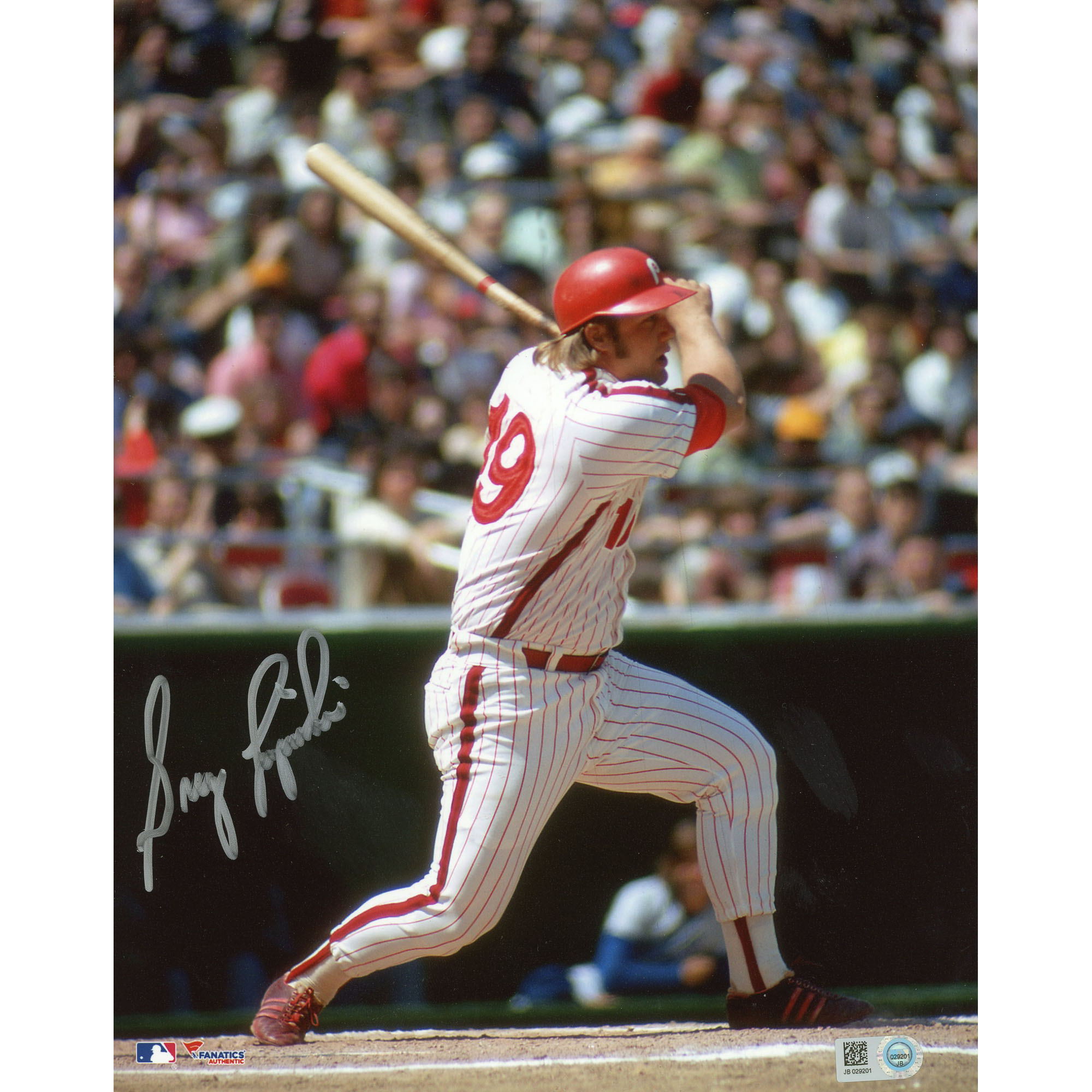 "Greg Luzinski Philadelphia Phillies Fanatics Authentic Autographed 8"" x 10"" White Swinging Photograph - No Size"
