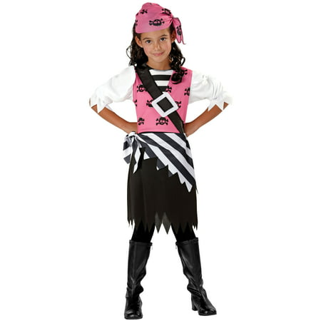 Seasons Halloween Punky Pirate Child 3pc Girl Costume, Black - Season Halloween Costumes