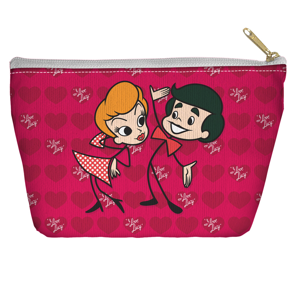 I Love Lucy Ricky and Lucy Accessory Pouch White 8.5X6