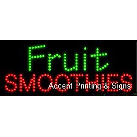 - Fruit Smoothies Indoor Flashing & Animated High Impact Energy Efficient LED Sign