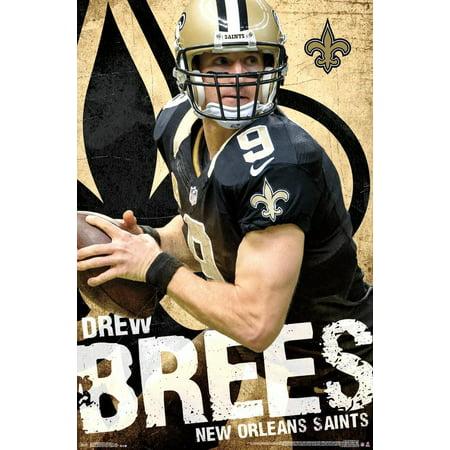 New Orleans Saints Framed - New Orleans Saints - Drew Brees