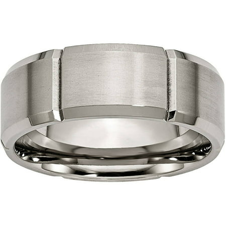 Grooved Polished Edge (Titanium Beveled Edge Grooved 8mm Brushed and Polished)