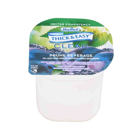 Thickened Beverage Thick & Easy 4 oz. Portion Cup Prune Ready to Use Nectar - Case of 24