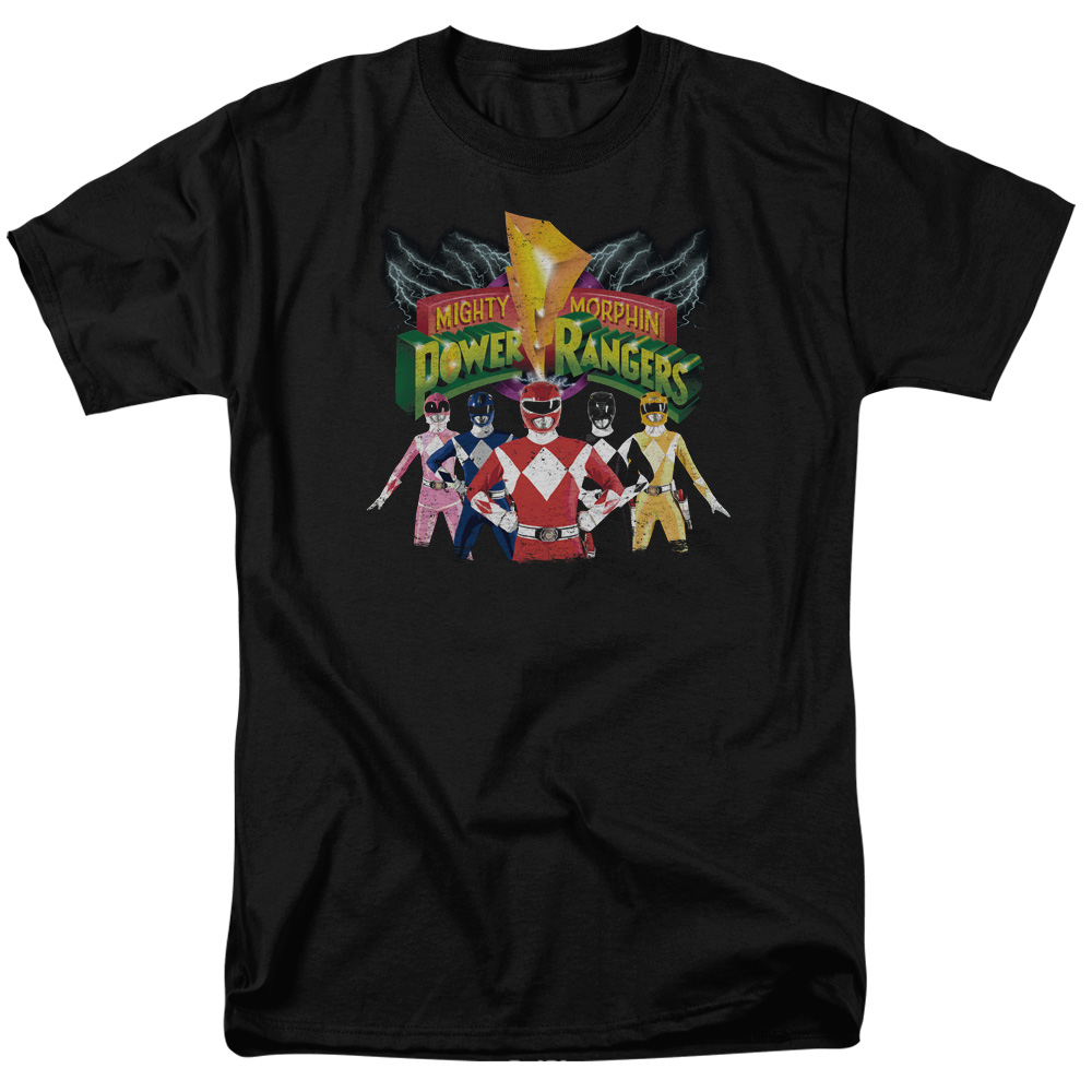 Power Rangers/Rangers Unite S/S Adult 18/1   Black     Pwr102