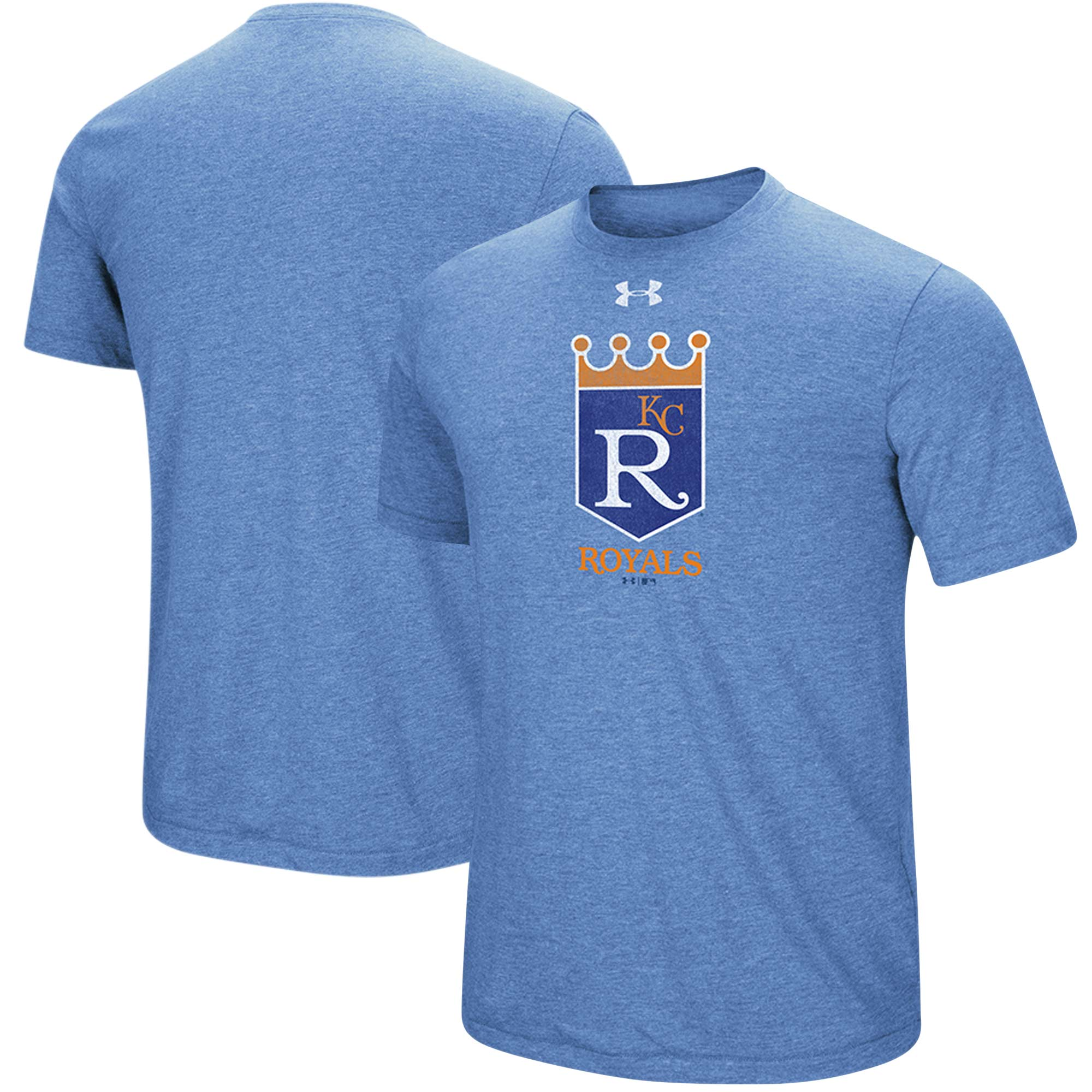 Kansas City Royals Under Armour Cooperstown Collection Mark Performance Tri-Blend T-Shirt - Heathered Royal