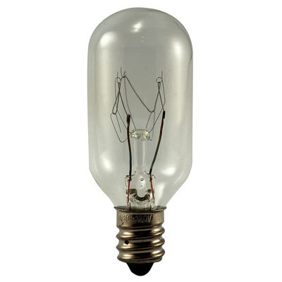 EIKO 25T8C-120V Light Bulb, 120V 25W T-8, Candelabra Base...