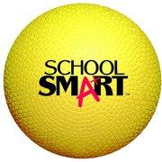 School Smart Rubber Playground Ball, Multiple Sizes, Yellow