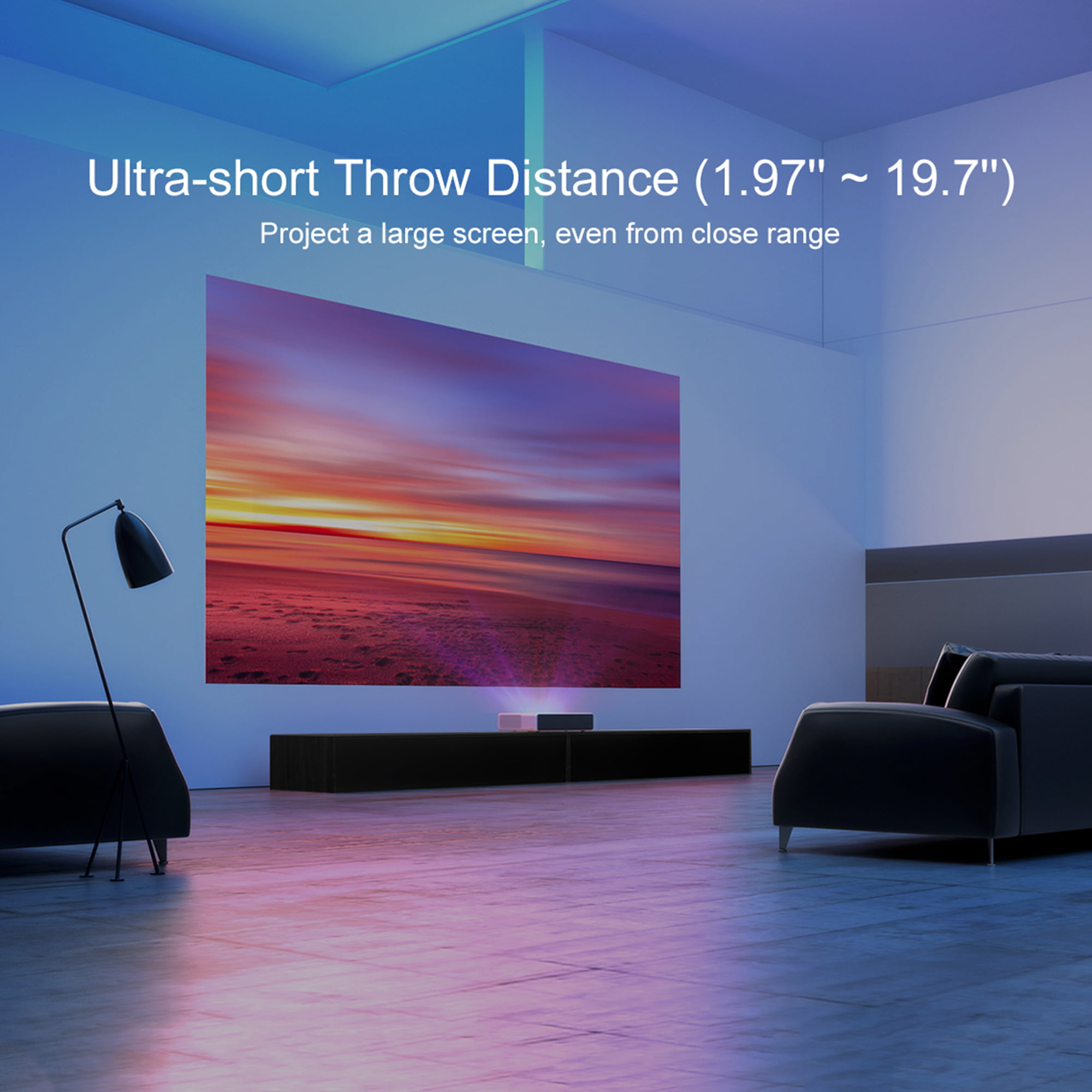 Xiaomi Mi Laser Ultra-Short Throw Projector 150 inch, Built-In Android TV,  Google Assistant, Dolby Stereo Speakers
