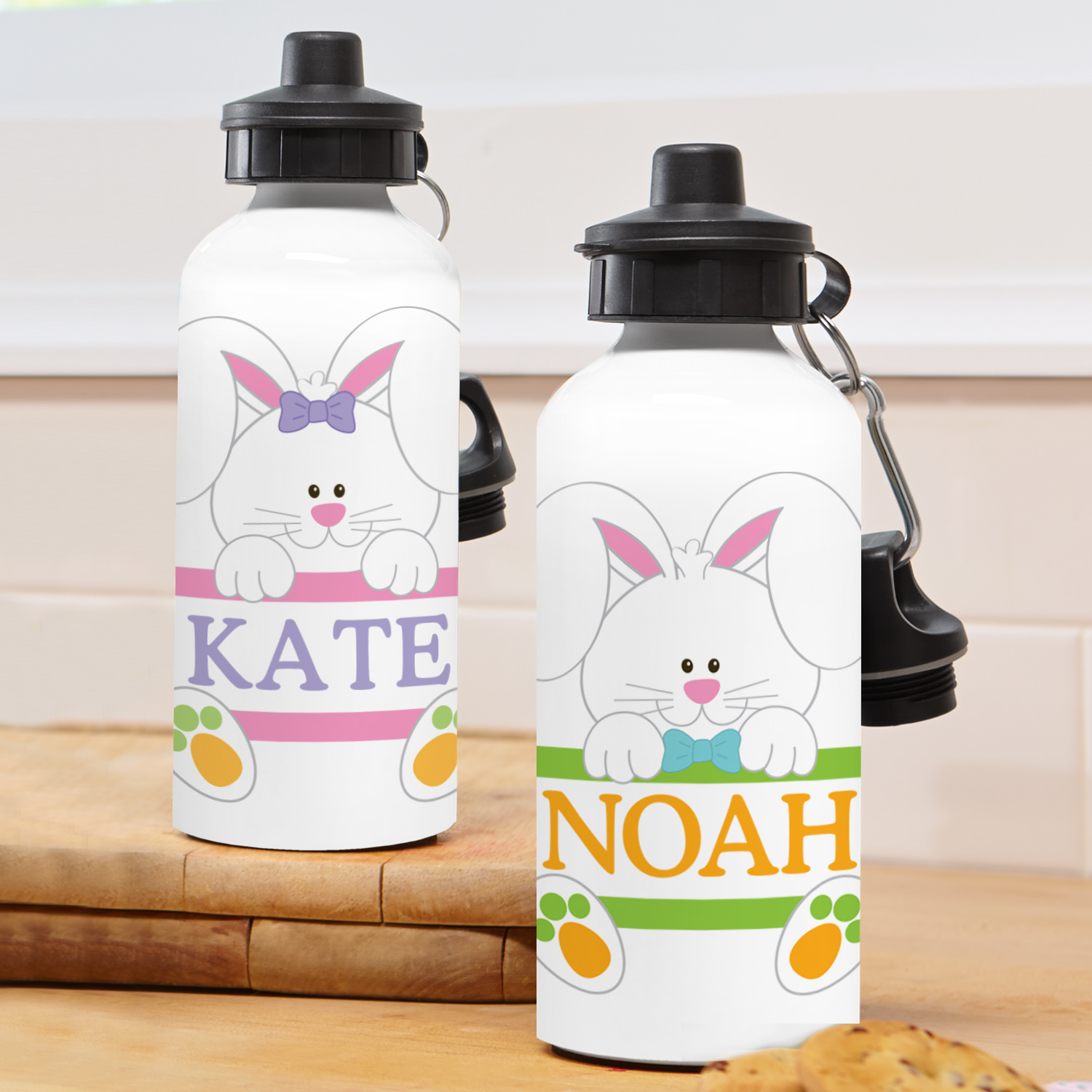 Personalized Silly Rabbit Waterbottle - Boy