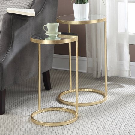 Convenience Concepts Gold Coast 2 Piece Nesting End Table