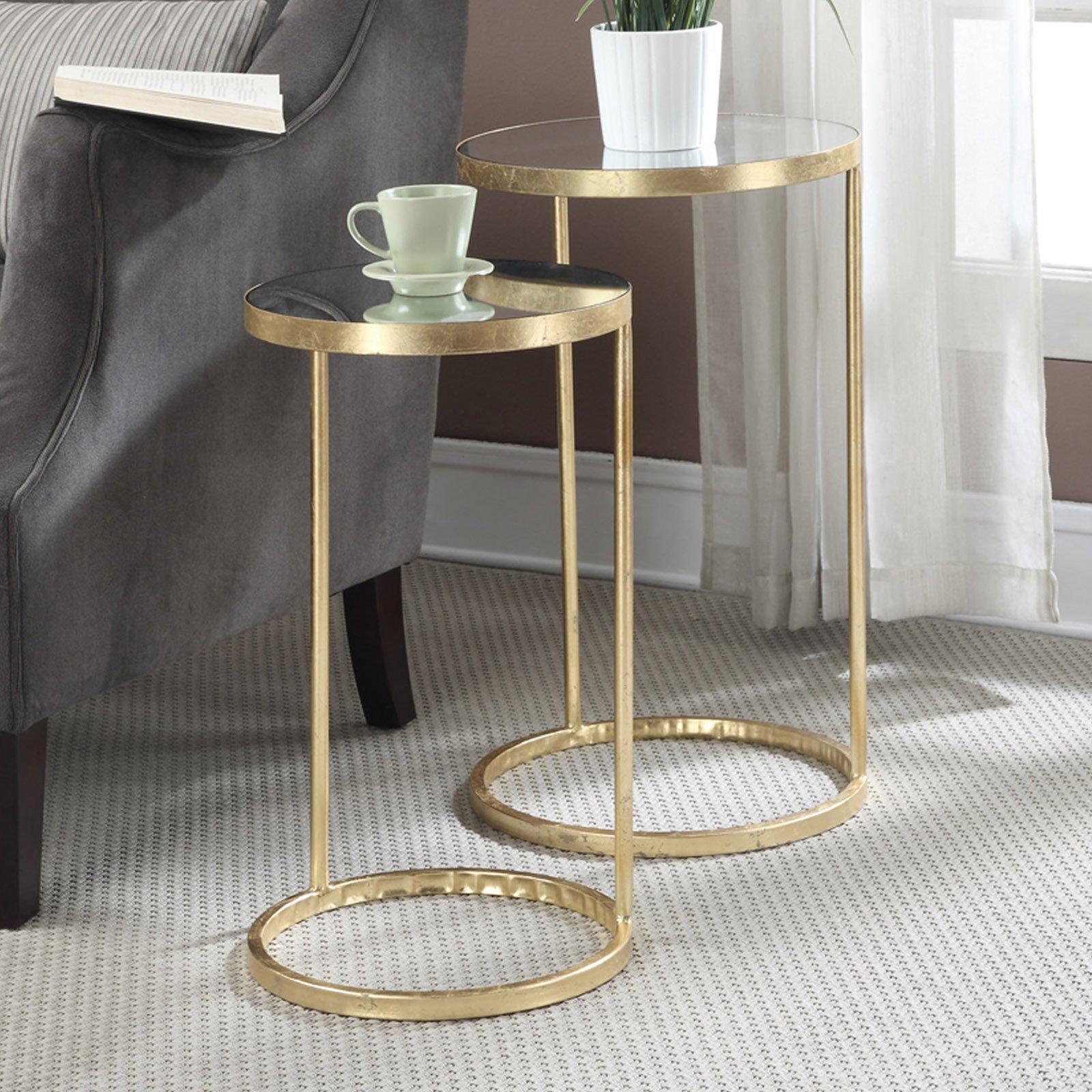 Convenience Concepts Gold Coast 2 Piece Nesting End Table