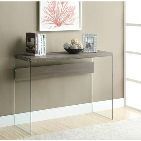 Monarch Console Table Dark Taupe With Tempered