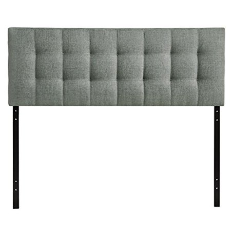 Modway Lily Upholstered Tufted Linen Fabric Full Headboard Size In Gray - image 1 of 1