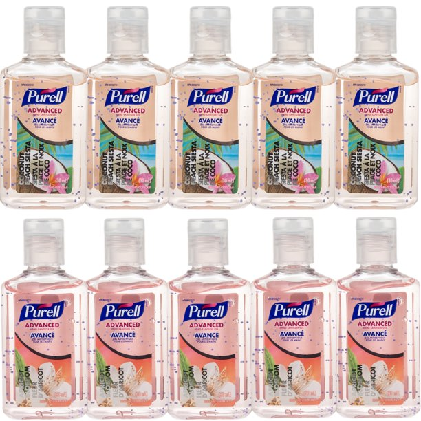 Purell 10 Pack Advanced 1oz Scented Instant Hand Sanitizer Travel