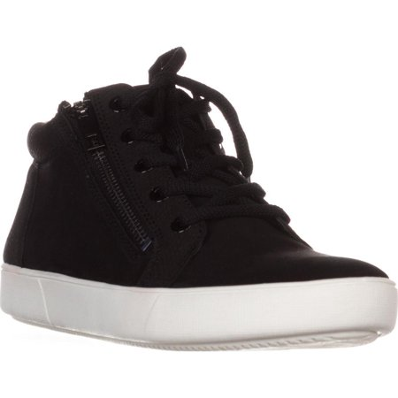 Womens naturalizer Motley High-Top Casual Sneakers, Black Leather ()