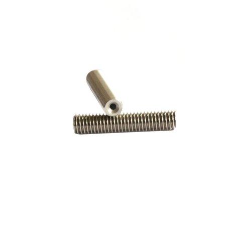 2pcs MK8 M6 * 40mm Stainless Steel Nozzle Extruder Throat Teflon Tubes Pipes for 1.75mm Filament 3D Printer Parts - image 3 de 6