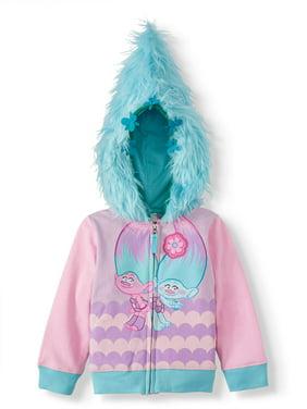 Trolls Toddler Girl Cosplay Zip-up Hoodie Sweatshirt