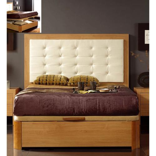 Luca Home  Queen Platform Storage Bed
