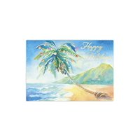 Hawaiian Deluxe Christmas Boxed Cards Holiday On The Beach