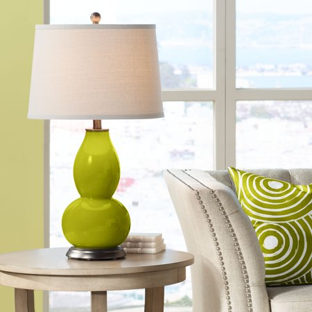 Green Double Gourd (Color + Plus Olive Green Double Gourd Table Lamp)