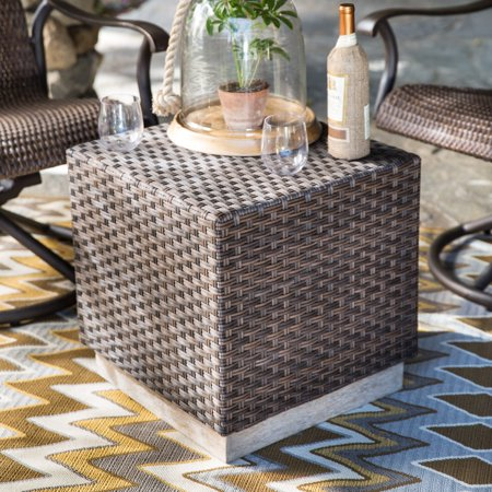 Belham Living All Weather Wicker Cube Coffee Table ()