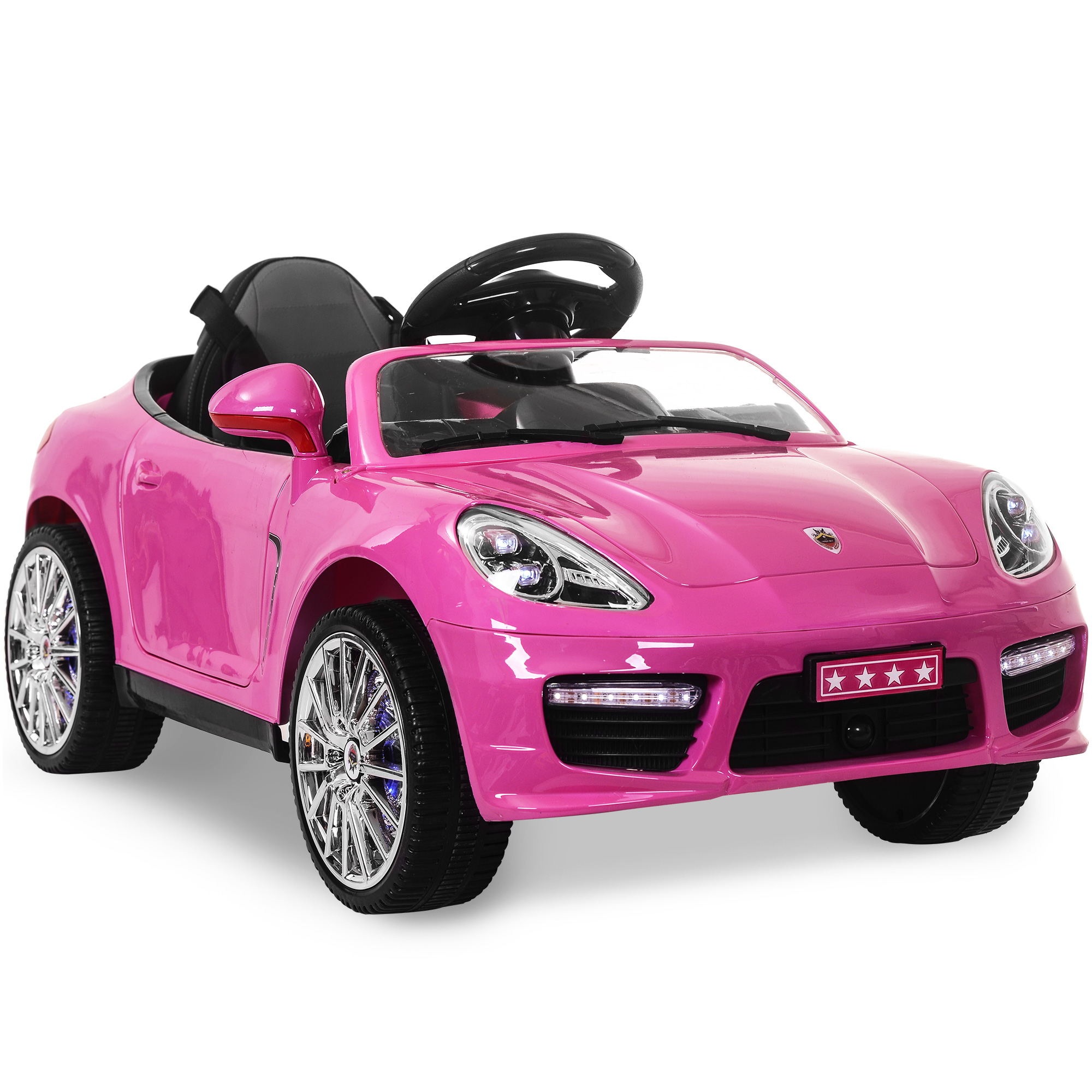 Merax 12V Ride On Car Porsche Style Sports Car W/MP3 Electric Battery Power Remote Control,Pink