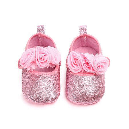 Funcee Infant Baby Girl PU Leather Bowknot Princess Shoes Spring Autumn First Walkers](Princess Shoes Set)