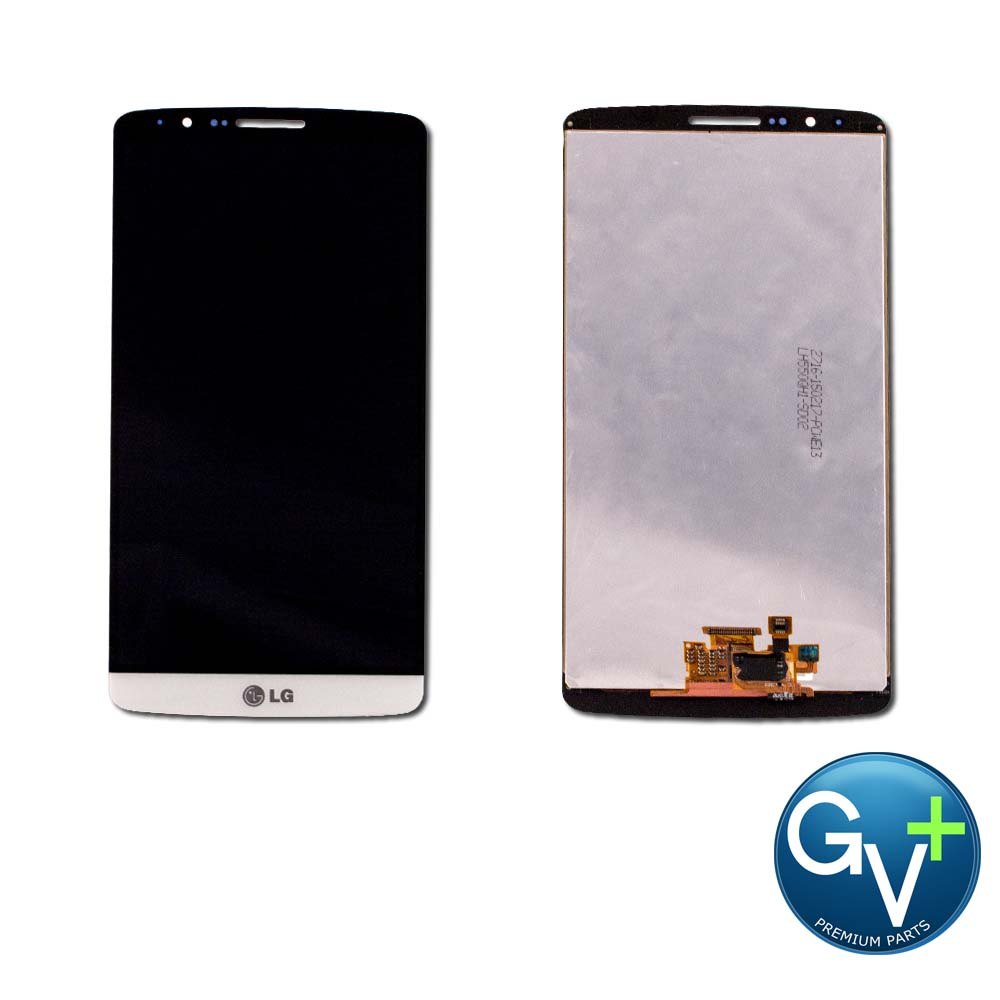 OEM Touch Screen Digitizer and LCD for LG G3 - Silk White (D85, VS985, LS990, US990, F400)