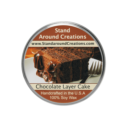 CHOCOLATE LAYER CAKE TUREEN 3-OZ. ALL NATURAL SOY CANDLE
