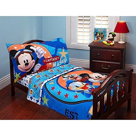 innovative toddler girl bedroom sets | Disney Mickey Mouse 4 Piece Toddler Bed Set - Walmart.com