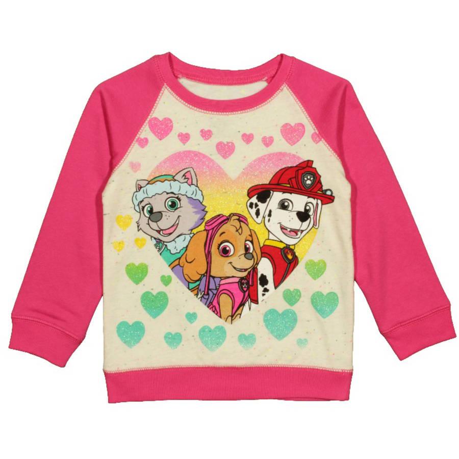 Paw Patrol Toddler Girl Everest Skye Marshall Speckle Sweatshirt