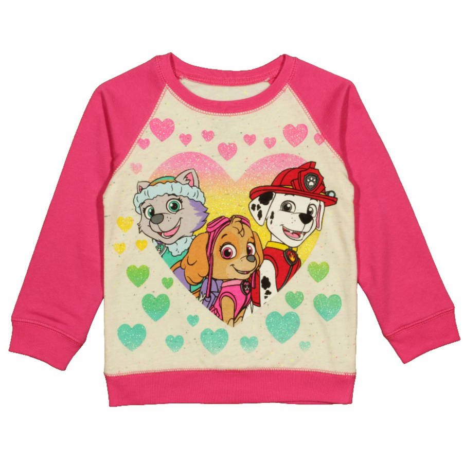 Paw Patrol Toddler Girl Everest Skye Marshall Speckle Sweatshirt