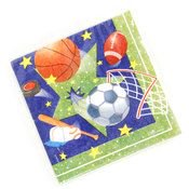"""Sports Pattern Printed Napkins (13"""" x 13"""") (36 Units Included)"""