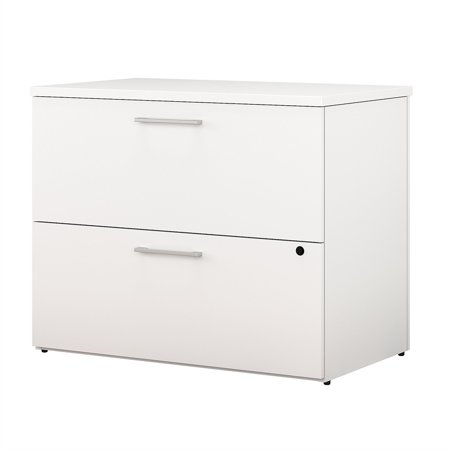 Bush Business 400 Series 36W 2 Drawer Lateral File Cabinet in White - image 6 de 6