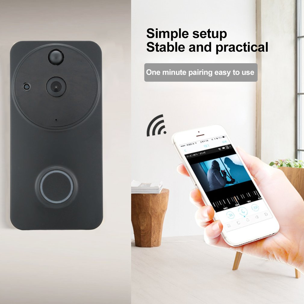 WF04 Home Smart Wireless WIFI Doorbell Low Power Consumption Waterproof Visual Camera Doorbell Fit For Home Security