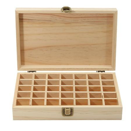 35 Bottle Holes Essential Oils Wooden Box Aromatherapy Storage Case Organizer -