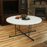 Lifetime 60 In Round Fold Half Folding Table
