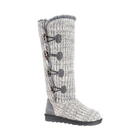 Silver Metal Footwear - Women's Felicity Knitted Mid Calf Boot